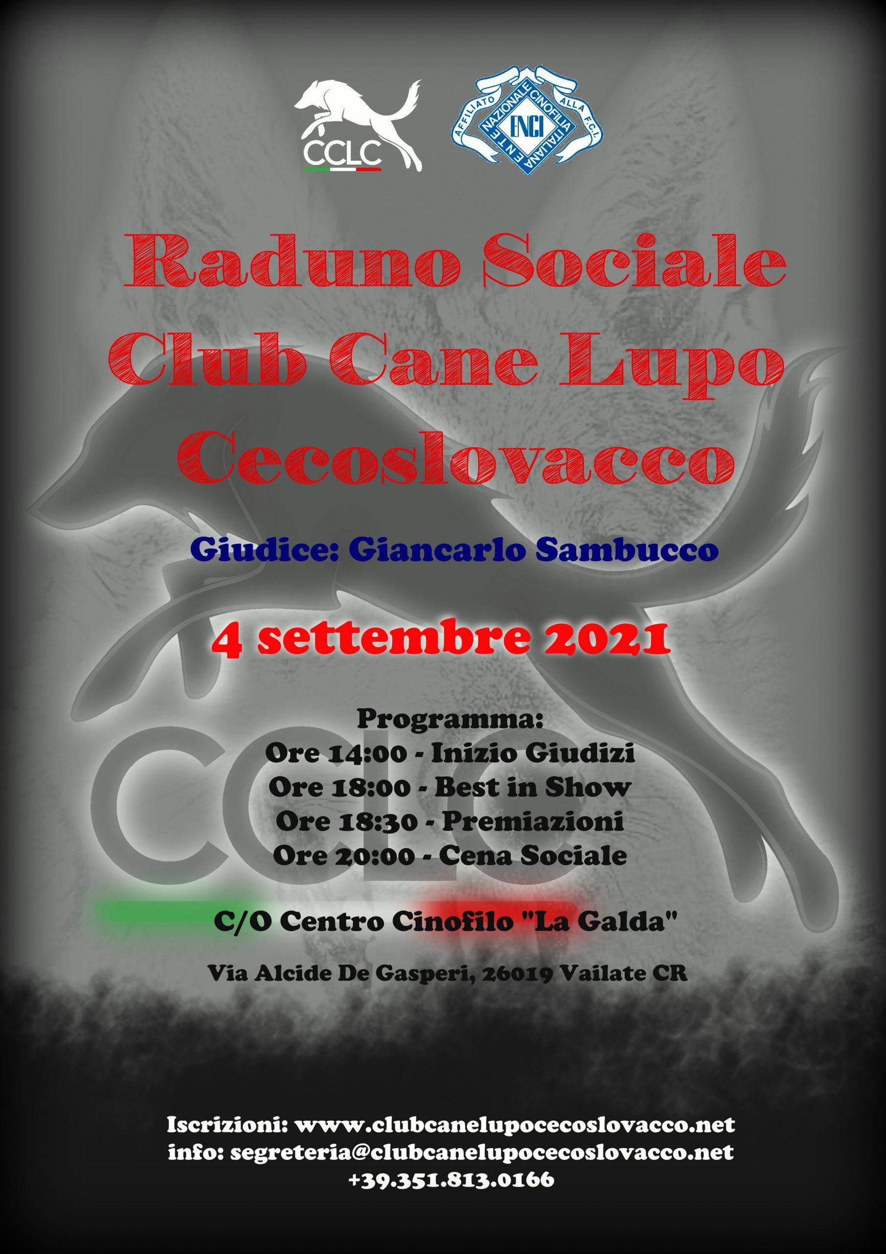 Locandina raduno sociale 2021